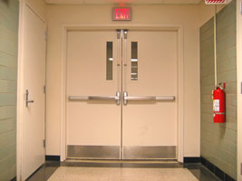 Commercial fire rated doors