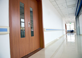 Commercial flush panel doors