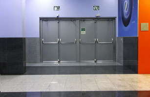 Commercial metal frame doors