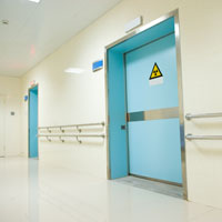 Commercial x-ray doors
