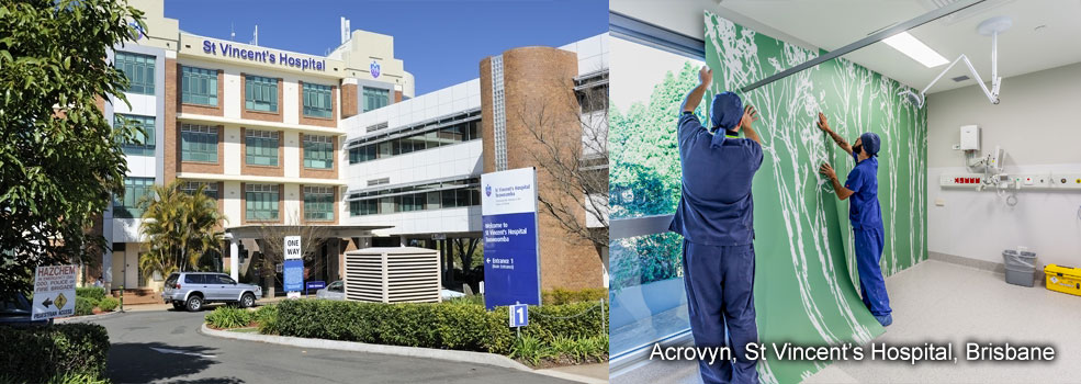 Acrovyn supplied to St Vincents Hospital Brisbane