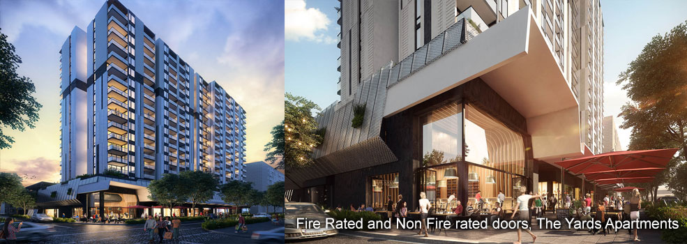 Fire Rated and Non Fire Rated supplied to The Yards Apartments, Brisbane